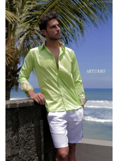 Plain Lime Cotton Shirt