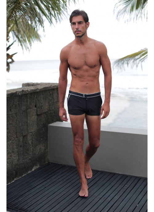 Black Swim Trunk With Pockets