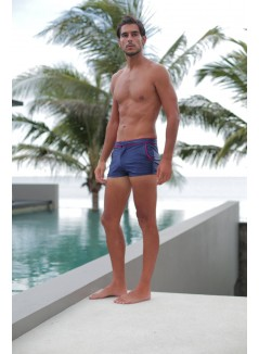 Blue Swim Trunk With Pockets