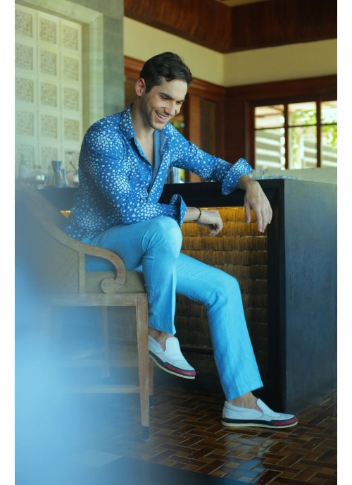 Light Blue Linen Trouseres