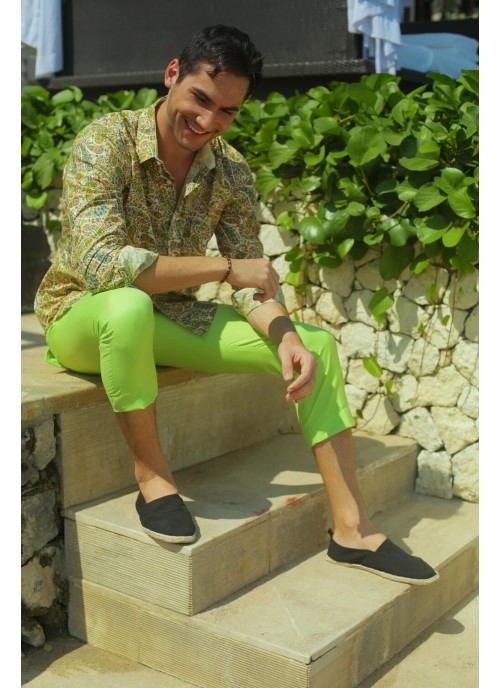 Pistachio Green Above Ankle Trousers