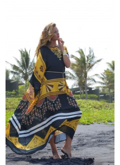 Ethnic Print Long Kaftan