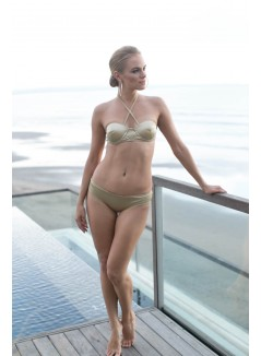 Gold Colour Two-piece Swimsuit